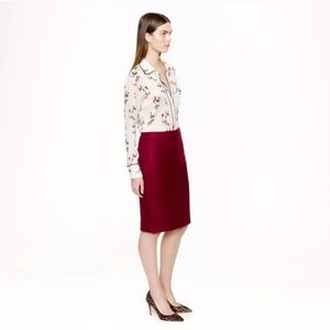 J. Crew Double Serge 100% Wool No. 2 Pencil Skirt